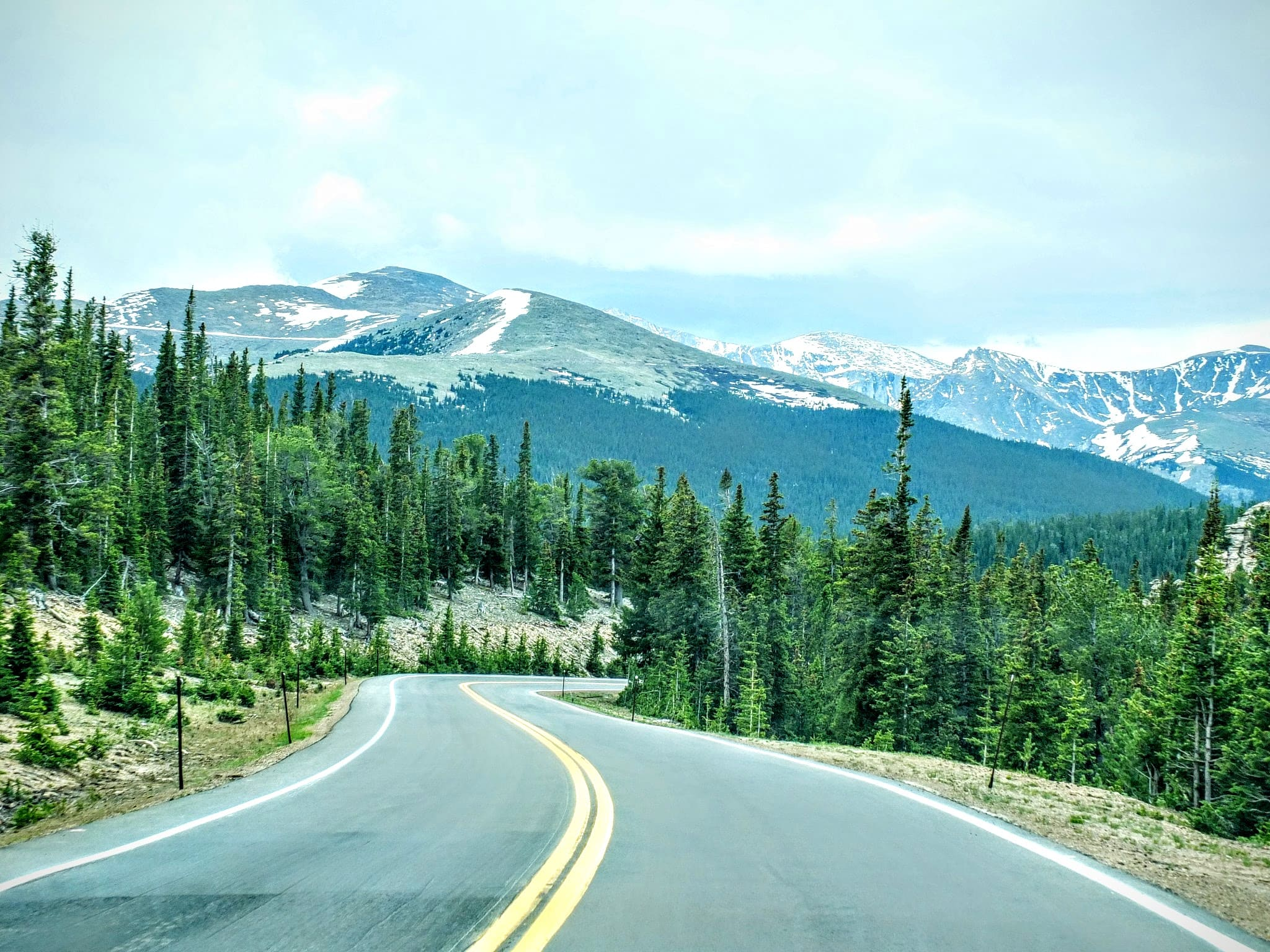 the road along Mount Evans Scenic Byway