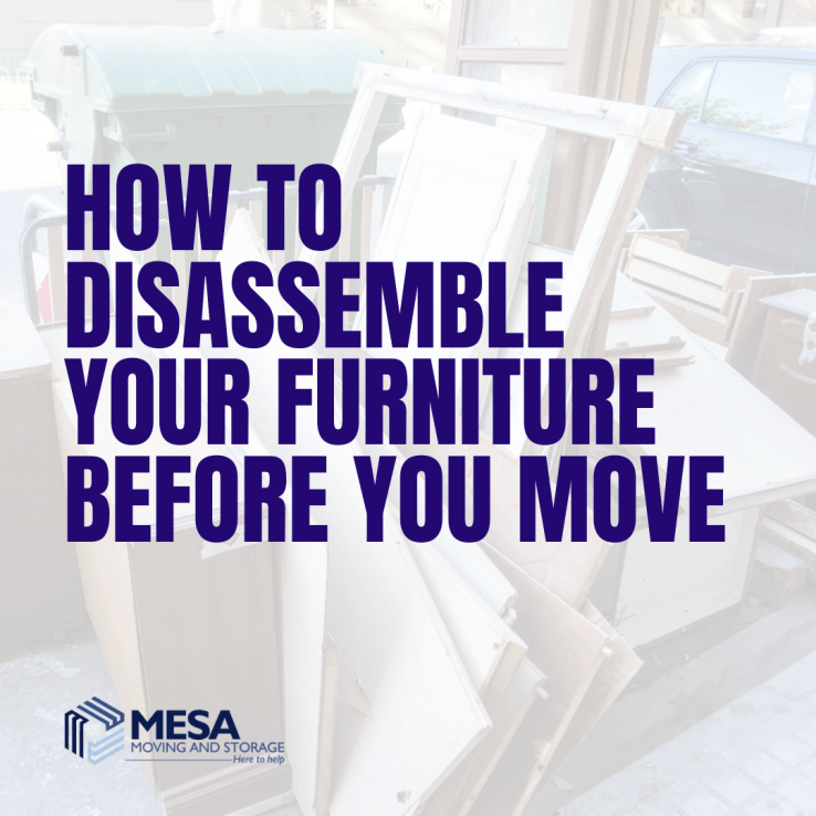 How to Disassemble Your Furniture Before You Move